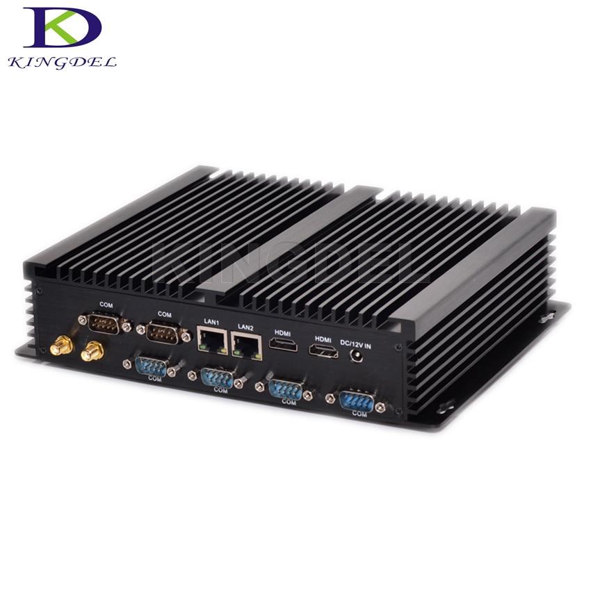 Industrial PC Fanless Mini PC Core i7 5550U 4500U i5 4200U i3 4010U Rugged PC Mini Computador 4K HTPC Win 10 Desktop PC Nettop