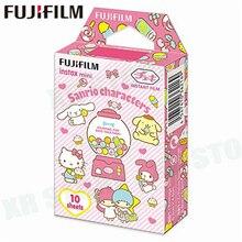 Fujifilm instax mini 8 9 filme sanrio, personagens fuji instant photo papel, 10 folhas para 70, 7s, 50s câmera 50i 90 25 share SP 1 2
