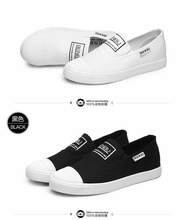 KUYUPP Brand New Woman White Shoes 2016 Summer Casual Flat Slip On Canvas Shoes Round Toe Women\'s Flats Big Size 35-40 PX107 (19)