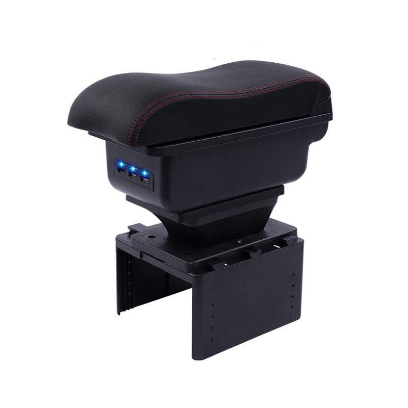 Para Ford focus mk3 foco armres 3 Armazenar conteúdo caixa apoio de braço central caixa com suporte de copo cinzeiro com interface USB modelo genérico