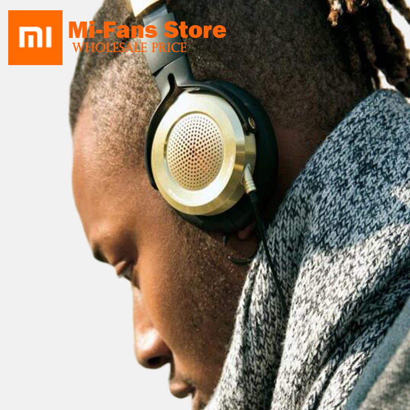 2017 New Version Xiaomi Headset High-fidelity Mi Headphone with Mic Foldable 3.5mm Music Earphone Built-in Knowles Microphone