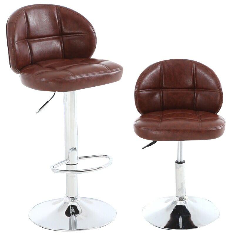Furniture Nice Bar Stools Bar Chair Rotating Lift Backrest Chair High Stools Home Creative Beauty Round Stool Stylish Minimalist Swivel Chair