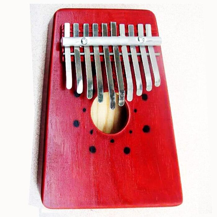 10 Clave Piano Kalimba Mbira Dedo Pulgar Pocket Niños Instrumento Musical de Per