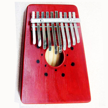 10 Clave Piano Kalimba Mbira Dedo Pulgar Pocket Niños Instrumento Musical de Percusión de Madera Marimba Africana Karimba Mini Mano Regalos