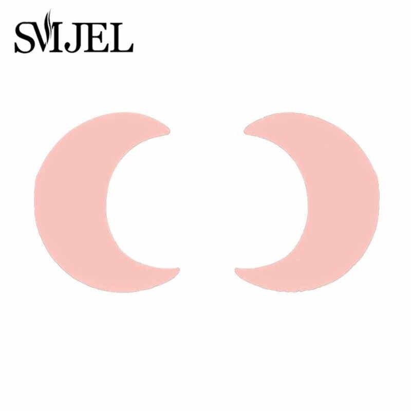 SMJEL かわいいステンレス鋼スタッドピアス女性の日常ジュエリーギフト小型スタームーンイヤリング pendientes mujer moda 2019