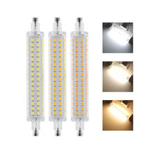 Luz de led de 10w 15w r7s, 78mm, j78, 118mm, j118, 2835 smd, 64, 128 leds, lâmpada fria/quente/natural branco