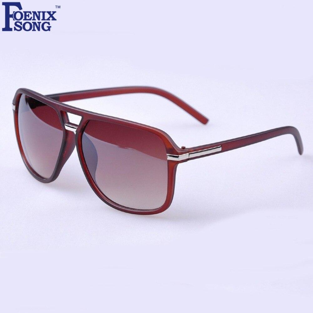 FOENIXSONG UV400 gafas de sol para hombres conducir Vintage Unisex gafas de sol  espejo lente deporte mujeres Feminino gafas OLO961 04 dedc2f31be03
