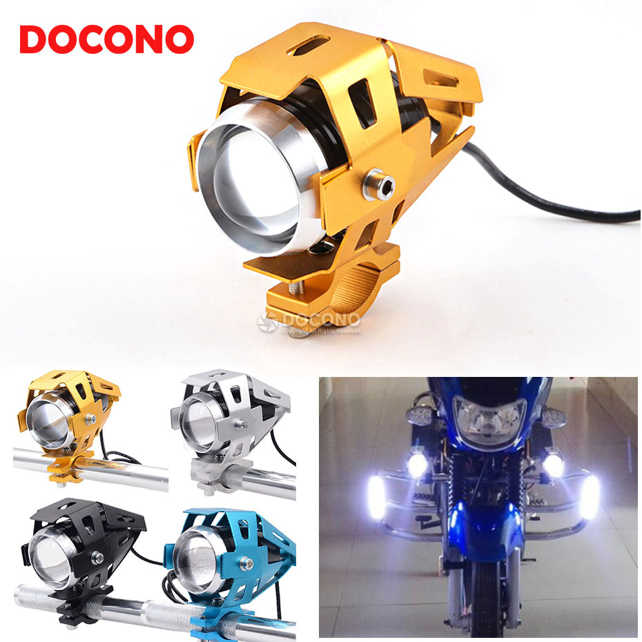Universal Motorcycle Modified U5 LED super bright headlight For yamaha raptor 700 xjr400 ybr 125 parts xvs 1100 wr450f yz250f fz