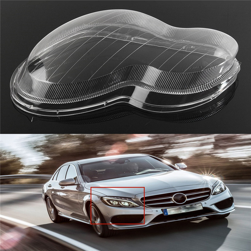 Righ left driver side headlight lens plastic shell cover for Mercedes benz headlight lens