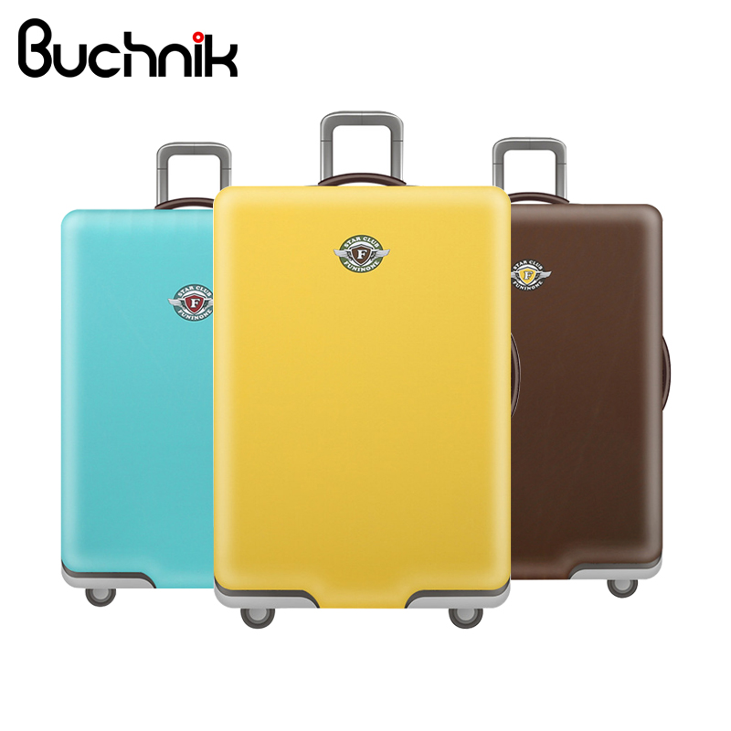 BUCHNIK Elastic Luggage Cover Trolley Suitcase Women's Men's Student Protect Dust Bag Case Travel Accessories Supplies Products
