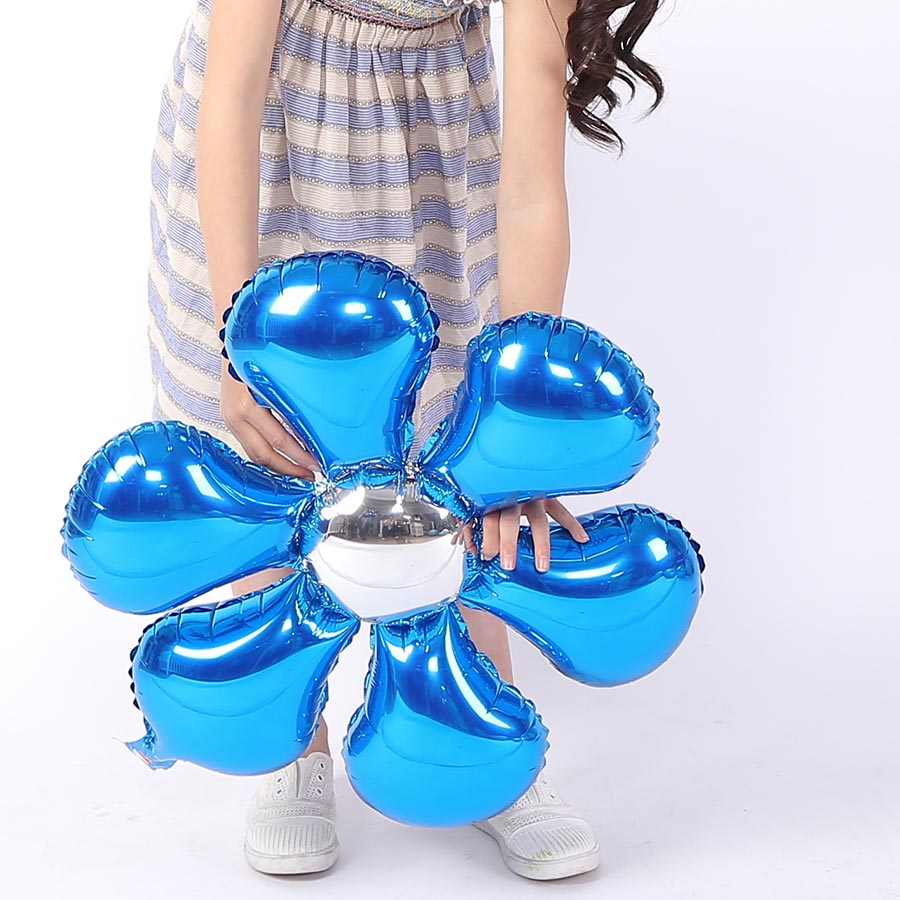 Fantasy IDEA Blue Blossom Balloon, Cartoon Foil Kids Birthday Party Balloon Children Baby Toys Holiday Home Decorations