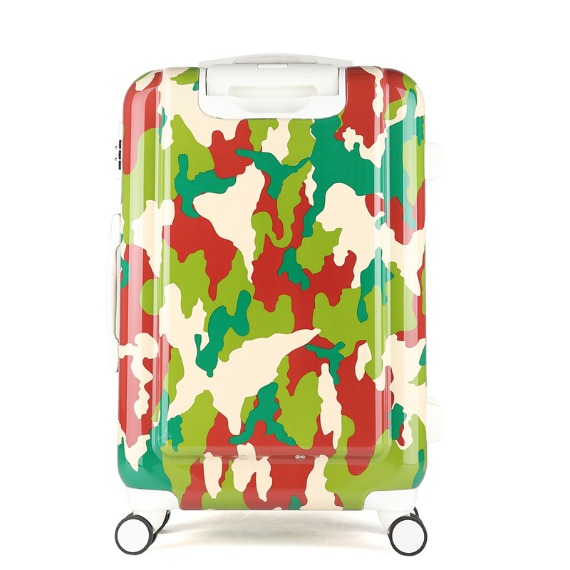 Camouflage luggage valiz bag Suitcase women and men bags, ABS Camouflage trolley case, new style, travel, lock, mute,2024