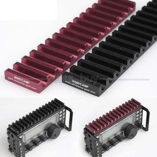 Aluminio del disipador de Calor Del Radiador Del Disipador de calor negro para ELECRAFT KX3 Externo Receptor negro color
