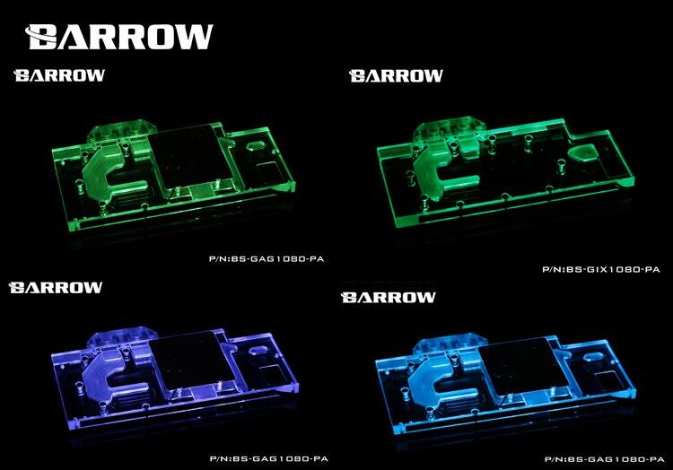 Купить с кэшбэком BARROW Graphics Card Block use for GALAXY GTX1080/1070Ti/1070/1060 GAMER Full Cover Copper GPU Radiator Block RGB
