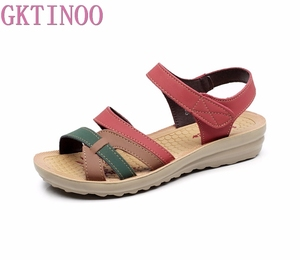 Image 1 - GKTINOO Sommer Frauen Sandalen Komfortable Damen Schuhe Strand Gladiator Sandale Frauen Casual Flache Sandalen Mode Schuh