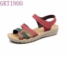GKTINOO Summer Women Sandals Comfortable Ladies Shoes Beach Gladiator Sandal Women Casual Female Flat Sandals Fashion Shoe