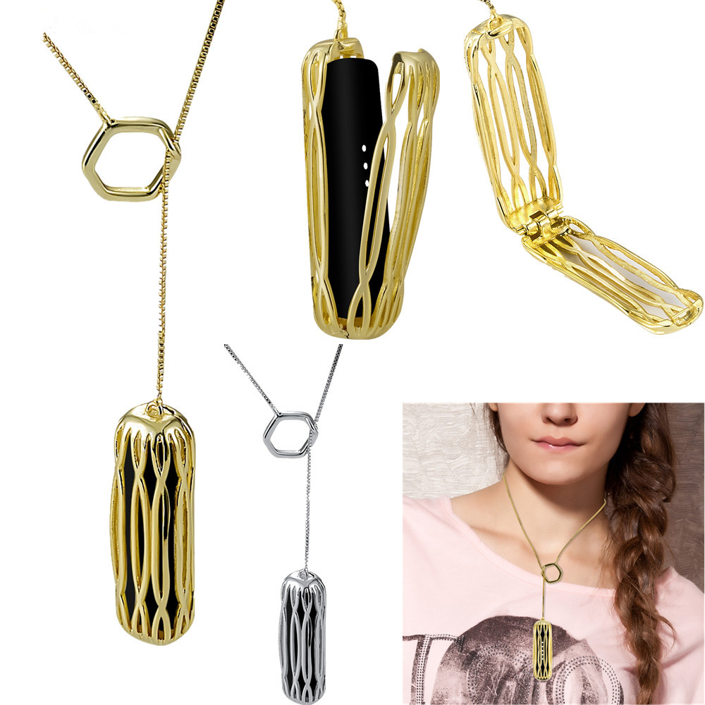 Fashion Stainless Steel Necklace Holder Pendant Chain for Fitbit Flex 2 Fitness Tracker