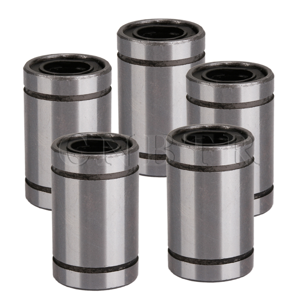 CNBTR 5pcs LM8UU 8mm Linear Bush Ball Bearing Bushing For Reprap Prusa 3D Printer 1pc scv40 scv40uu sc40vuu 40mm linear bearing bush bushing sc40vuu with lm40uu bearing inside for cnc