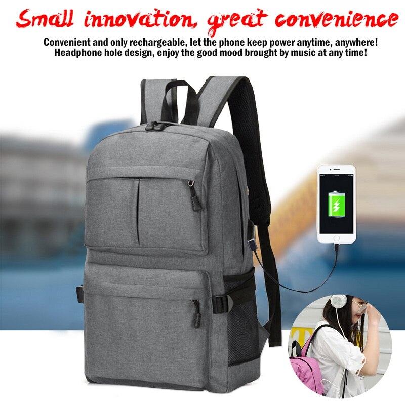 a634e6dd96d9 Laamei обувь для мальчиков девочек рюкзак школьный холст большой черный для мужчин  школьные ранцы USB Ноутбук