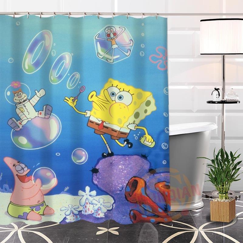 Hot New Spongebob Modern Shower Curtain Eco friendly Custom Unique ...