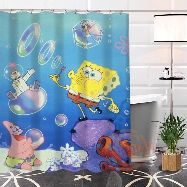 Online Shop Hot New Spongebob Modern Shower Curtain Eco-friendly ...