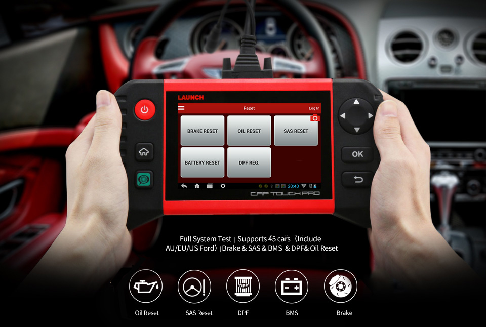 Image 4 - LAUNCH Creader CRP Touch Pro Full OBDII All System Scanner WiFi Diagnostic Scan Tool SAS EPB BMS DPF Oil reset Automotive Tool
