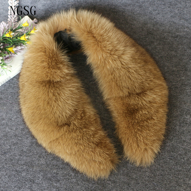 Brown Fur Fox Collar Women Cloth Scarves Scarf 80 CM Length Fluffy Thickness Collar Female Gift High Quality Fast Delivery 9011
