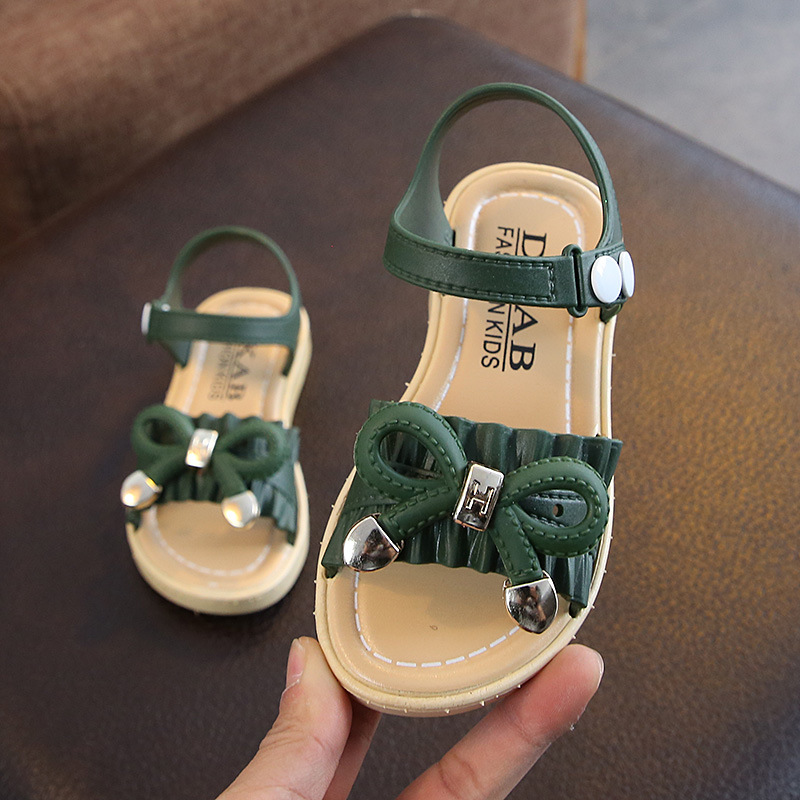 2019 Summer Kids Sandals For Girls Princess Shoes Children Beach Little Girls Open Toe Flat Pearl Casual Sandals Fashion Party