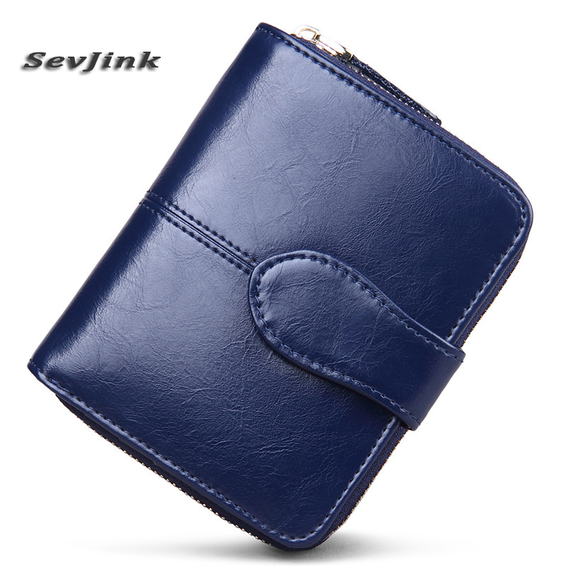 100% Genuine Leather Women Wallets Small Wallet Zipper Coin Pocket Credit Card Wallet Female Purses Money Clip vintage women short leather wallets stylish wallet coin card pocket holder wallet female purses money clip ladies purse 7n01 18