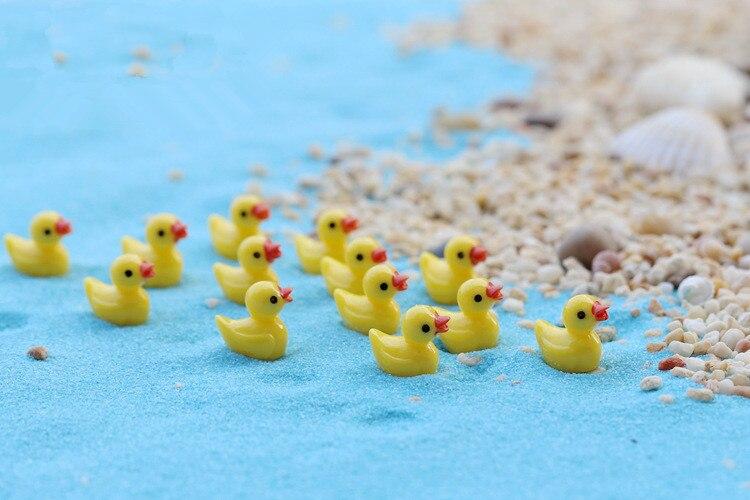 5ks / lot Miniaturní pohádkové figurky Roztomilé mini kachny Zahradní miniatury Umělé mikro krajinné pryskyřice Manualidades