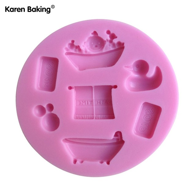 Baby Bathtub Shape Chocolate Candy Jello 3D Silicone Cake Tools Soap Mold  Cake Decoration C079
