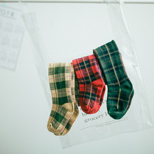 Children Autumn Scottish Boys And Girls Combed Cotton Pantyhose Baby Kid Infant Knitted Stockings