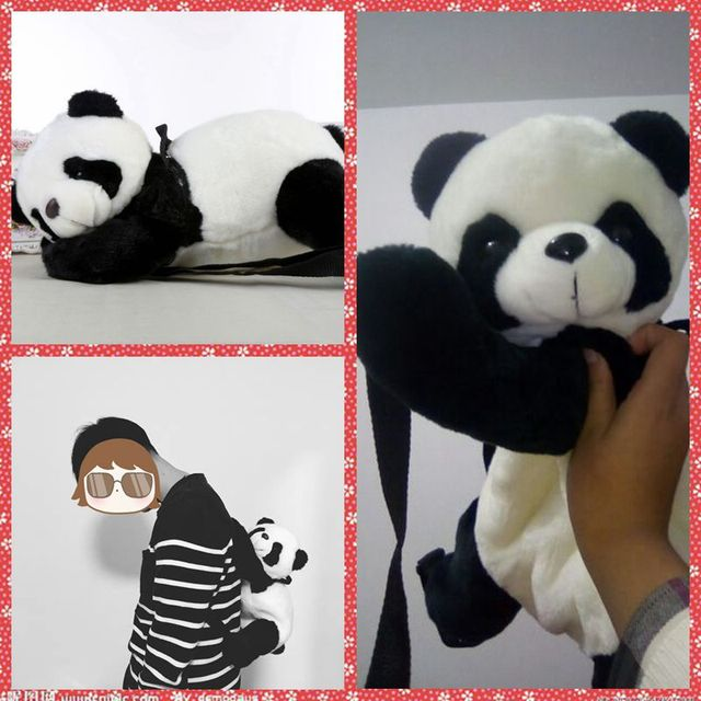 Free Shipping Big Panda Plush Backpacks Stuffed Animal Toy Bear Kids