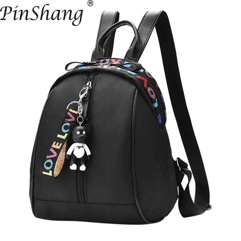 PinShang Women Backpack Girl Oxford Fashionable Stylish Colorful Letter Backpack Travel Casual Bag for Women Women Backpack Z40