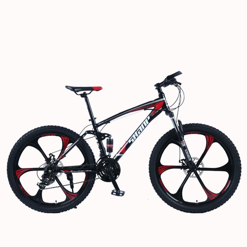 SHANP Mountain Bike Quadro de Aço Quadro de Suspensão Completa Mecânica Disco de Freio Shimano Velocidade 24 26