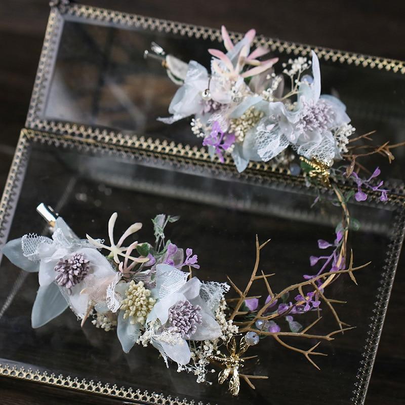 0b6e4c96ba8f New Hot Handmade Colorful Flower Hairbands Headdress Bridal Wedding Luxury  Quali