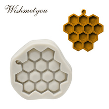 WISHMETYOU 12 Holes Baked Silicone Bee Soap Mold Chocolate Handmade Hive Grapes Cake Decorations Tools Easy To Clean