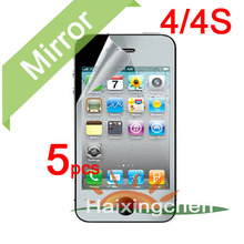 Mirror Screen Protector Guard Cover For Apple iphone 4 4G 4S Protective Film 5pcs film 5pcs