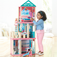 Большие размеры 1,3 м DIY игрушки Кукольный дом аксессуары миниатюрная мебель деревянный кукольный домик Модель игрушки для подарок для девоч