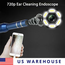 KERUI 5.5mm HD Visual Ear Spoon Cleaning Soft Wire Endoscope Camera Ear Health Cleaner Ear Wax Removal 720p for android 3 in 1 kerui 3 in 1 usb otg visual ear cleaning endoscope spoon functional diagnostic tool ear cleaner android 720p camera ear pick