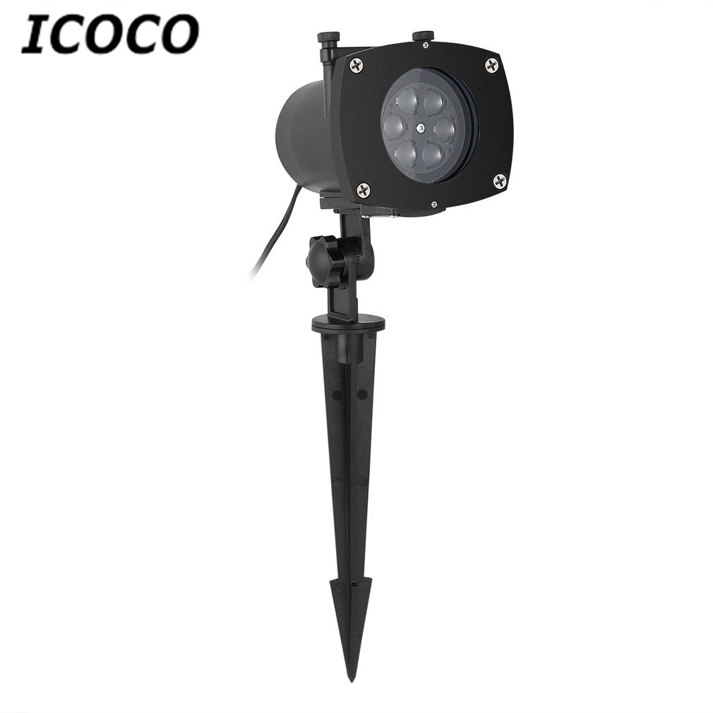 ICOCO LED Switchable Pattern Slides Sparkling Landscape Projector Light Waterproof Christmas Holiday Party Decor Stage Effect