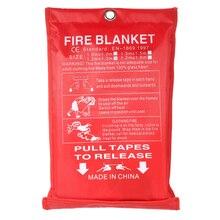1 м x 1 м противопожарное одеяло стекловолокно огнезащитное аварийное спасательное противопожарное укрытие защитное покрытие противопожарное аварийное одеяло