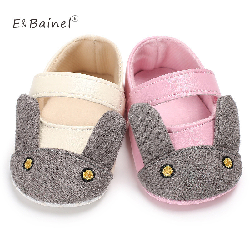 Infant Baby Girls Shoes Casual Prewalker First Walkers Rabbit Pattern Baby Shoes 0-18Months
