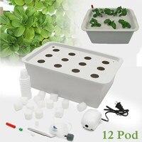 12 Holes Plant Site Hydroponic Garden Pots Planters System Indoor Garden Cabinet Box Grow Kit Bubble