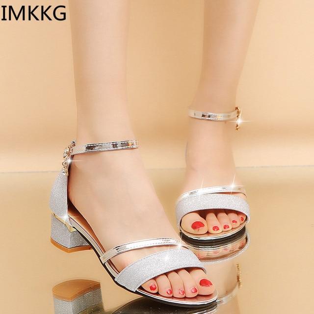 87f39a2ed7a6c 2018 new Women Sandals Sexy High Heels Women Pumps girls Gold Silver Summer  crystal Shoes s576
