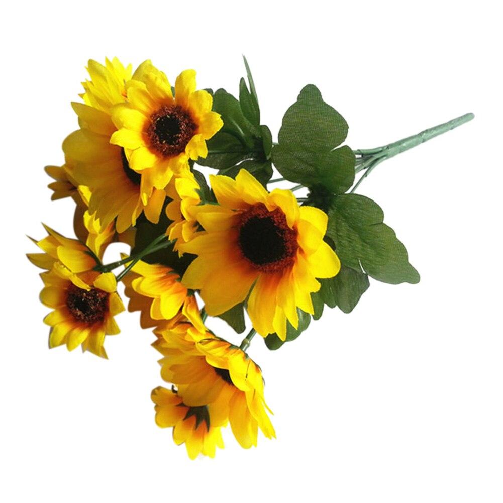 Gerbera Bouquet Bunch 14 Head Small Sunflower Bunch Artificial Silk Flowers