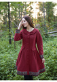 Mujeres mujeres abrigo de invierno chaqueta viento temperamento nacional nuevo invierno delgado retro bordado de manga larga de lana escudo envío gratis