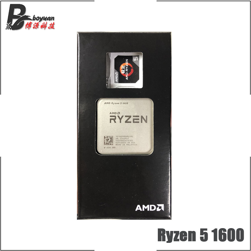AMD Ryzen 5 1600 R5 1600 3 2 GHz Six Core CPU Processoe YD1600BBM6IAE Socket AM4