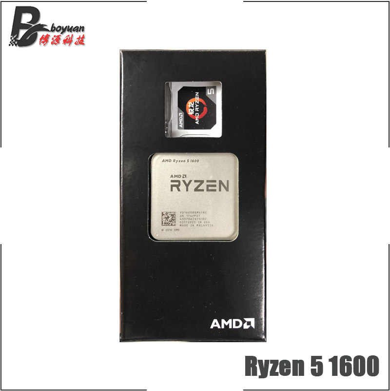 AMD Ryzen 5 1600 R5 1600 3.2 GHz Six-Core CPU Processoe YD1600BBM6IAE Socket AM4