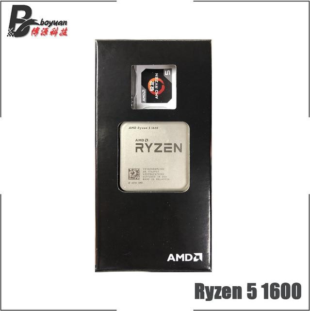 AMD Ryzen 5 1600 R5 1600 3.2 GHz 6 コア CPU Processoe YD1600BBM6IAE ソケット AM4